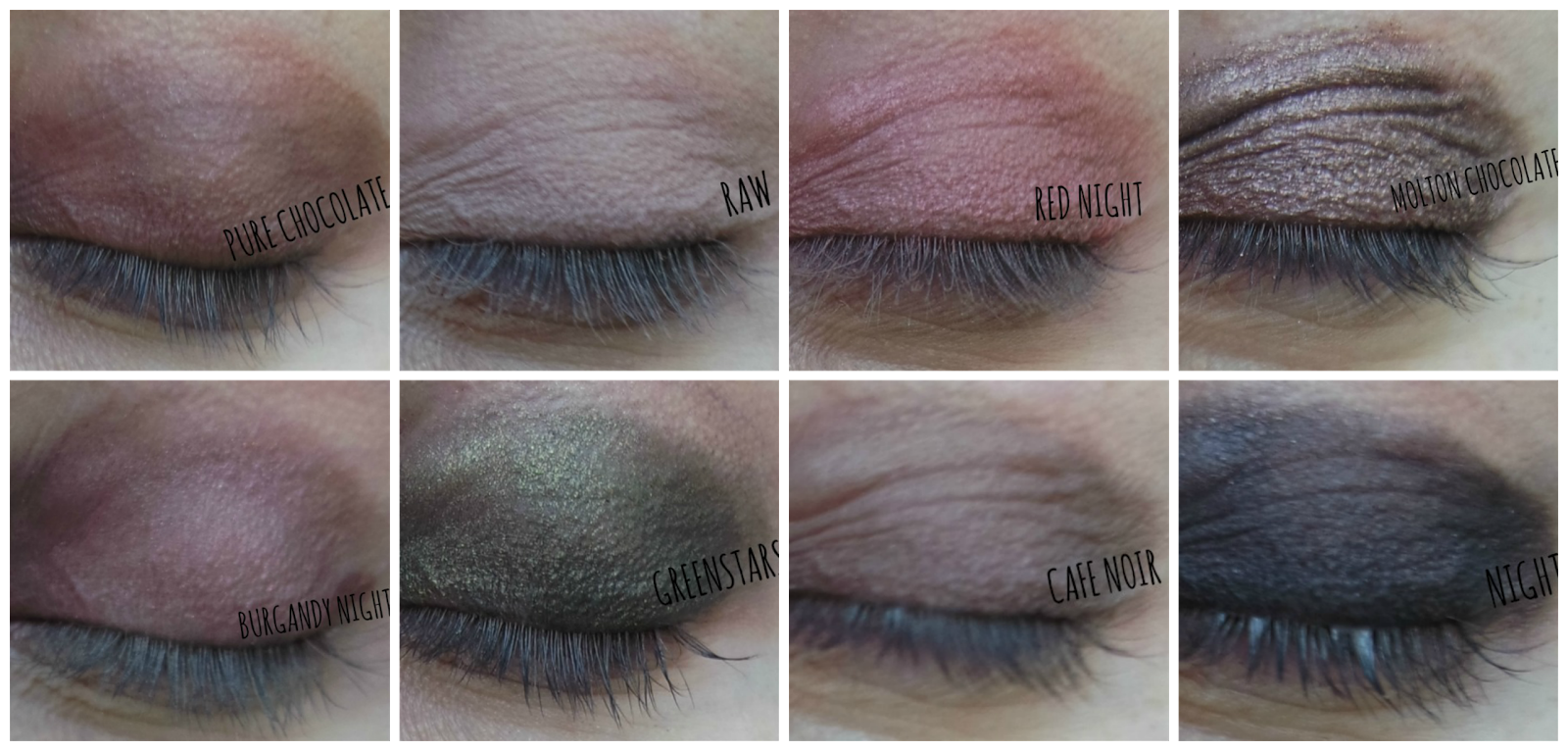 Makeup Revolution 32 Ultra Eyeshadows Flawless Palette Swatches on http://emandhanxo.blogspot.co.uk/