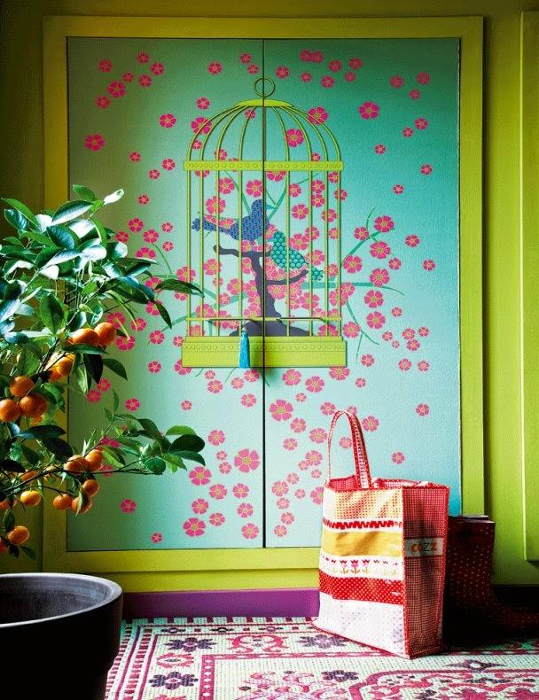 Papier peint Cage à oiseau NeoDKO