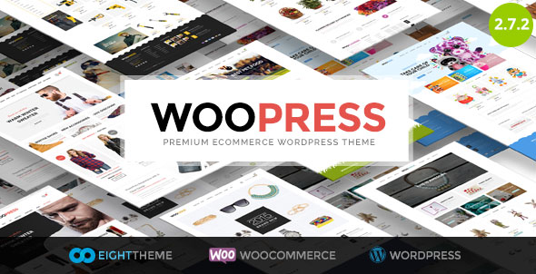 Free Download the latest version of WooPress V2.7.2 Responsive Ecommerce WordPress Theme