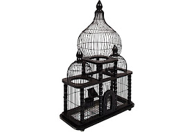 Vintage Black Birdcage
