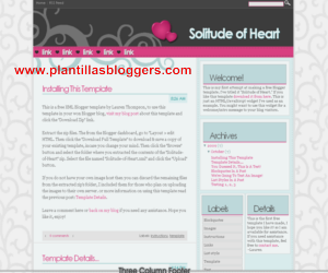 plantilla para blogger Solitude of Heart