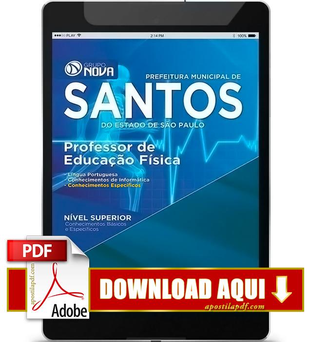 Apostila Prefeitura de Santos Professor de Educação Física PDF Download 2016