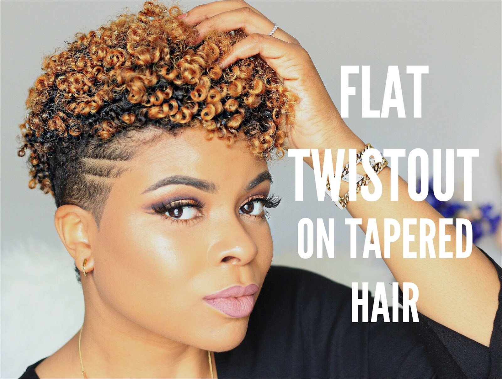 Natural Hair Rebel Hair Flat Twist Out On Tapered Cut