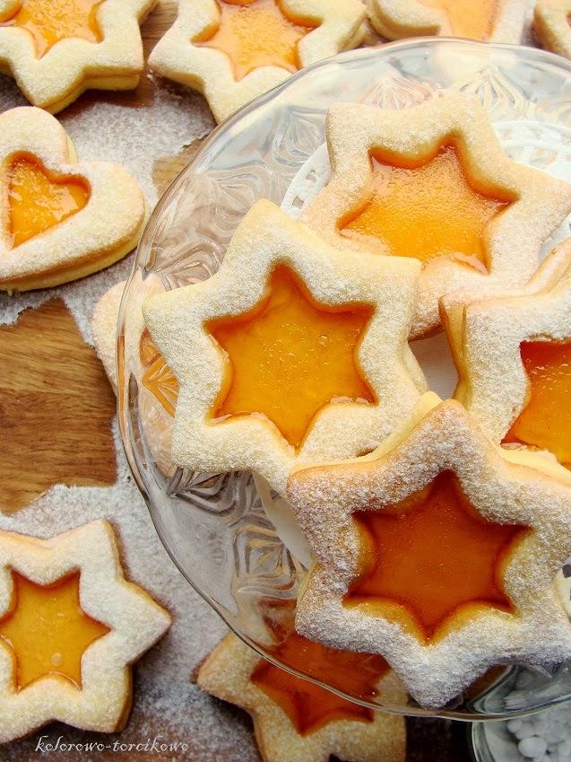Pomarańczowe ciasteczka z galaretką