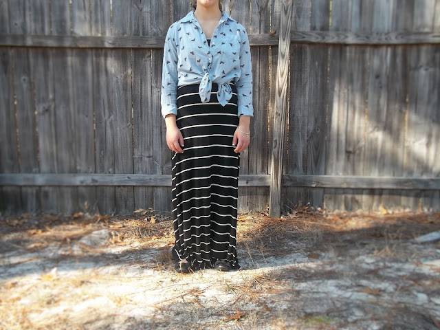 maxi dresses button downs chambray stripes simple trafficking facts donate outfit