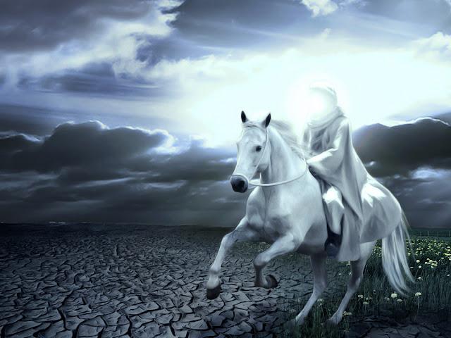 muslim riding horse