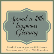 SPREAD A LITTLE HAPPINESS GIVEAWAY