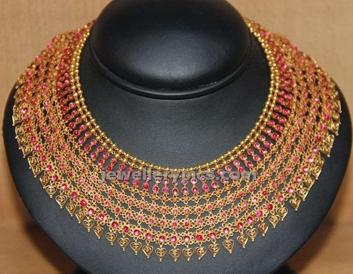 reversible broad necklace for indian wedding jewellery