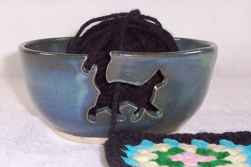 Knitting Bowl Uk : Claycrazy pottery ceramic yarn bowls crochet addict uk
