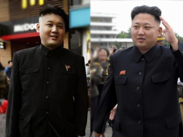 Howard, a Hong Kong musician (L) who looks like North Korean leader Kim Jong Un (R). PHOTOS: AGENCIES