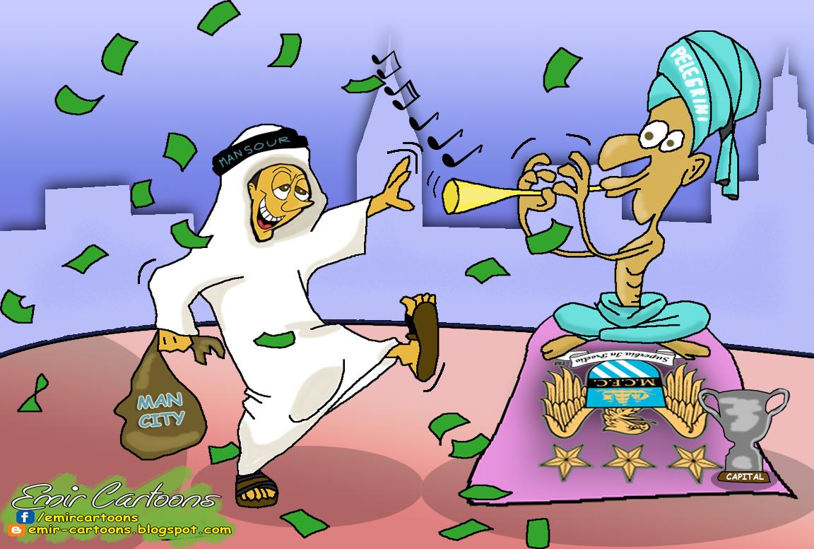 Manchester City - Capital Cup,Manchester City , Capital Cup,emir balkan cartoons,omar momani,karikature,fudbal,city,pelegrini,mansour,
