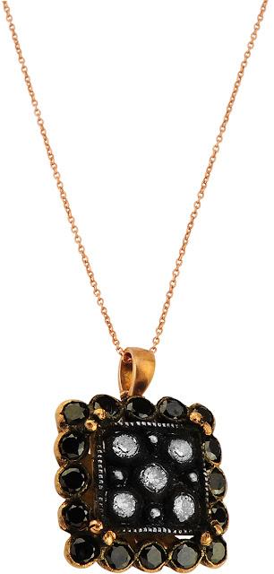 siyah pırlanta elmas kolye