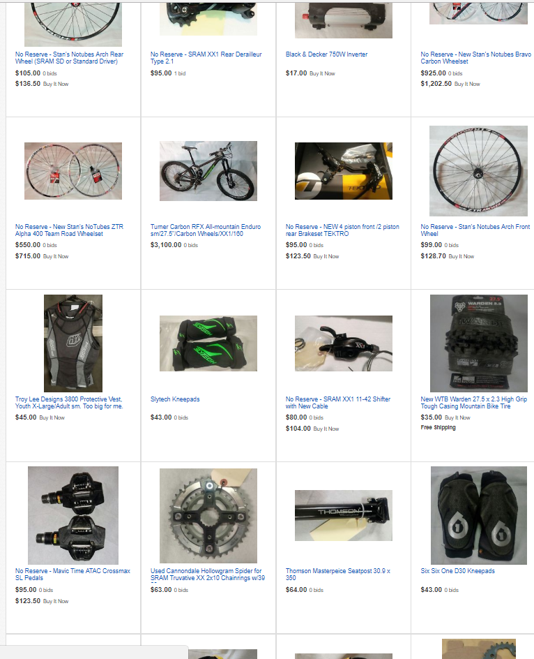 Bike stuff for sale