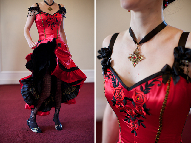Robe theme moulin rouge