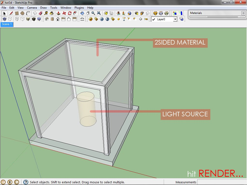 Sketchup texture vray for sketchup 2sided material for Sketchup 2013