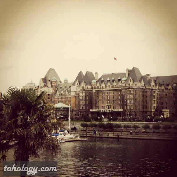 The Fairmont Empress Hotel in Victoria, British Columbia, Canada