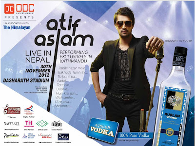 Atif Aslam performing LIVE in Kathmandu Nepal - 30 November 2012