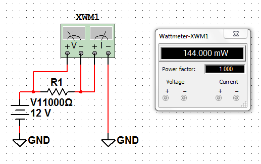 Tutorial Multisim 11 : Fungsi Cara Penggunaan Wattmeter