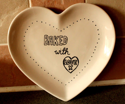 Heart shaped cake plate