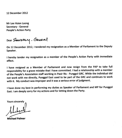 Formal Resignation Letter Sample Singapore Resignation