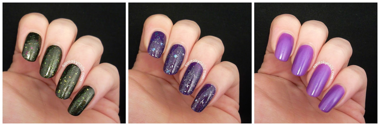 Canvas Lacquer Mother of Dragons, Nuit Blanche All Nighter and Orchids | Squeaky Nails