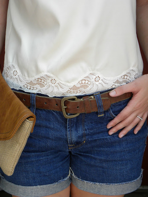 thrifted lace blouse