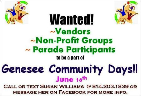 6-16 Genesee Community Days