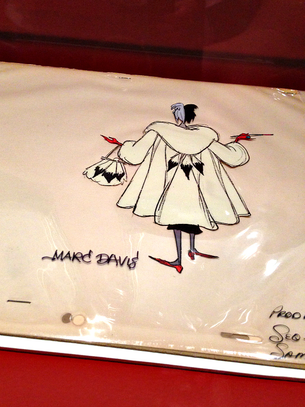 Cruella & Marc Davis | a review of Animate Your Night: Choose Your Own Adventureland at The Walt Disney Family Museum