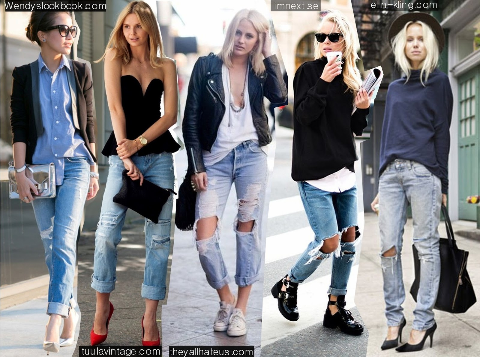 Charlotte Harvs X Fashion Fade: 5 Ways To Wear Boyfriend Jeans