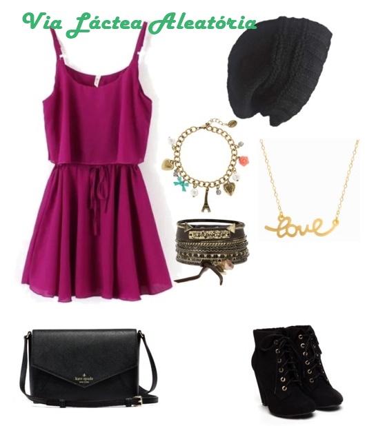 Look romântico com vestido para usando gorro