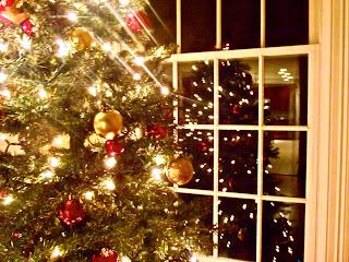 Arnol de navidad y luces de navidad