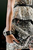 Вечерна чанта плик с пайети на Fendi