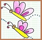 cute butterfly to draw, easy kids