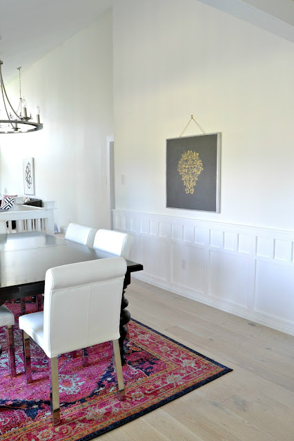 gold leaf painting dining room