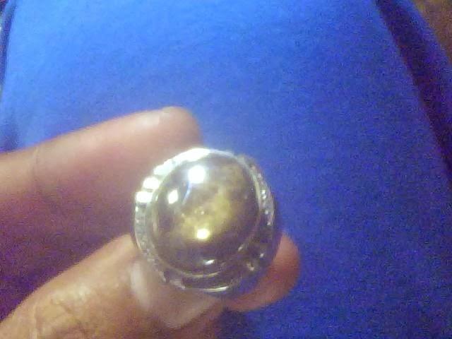 Batu cincin black sapphire ring aloy