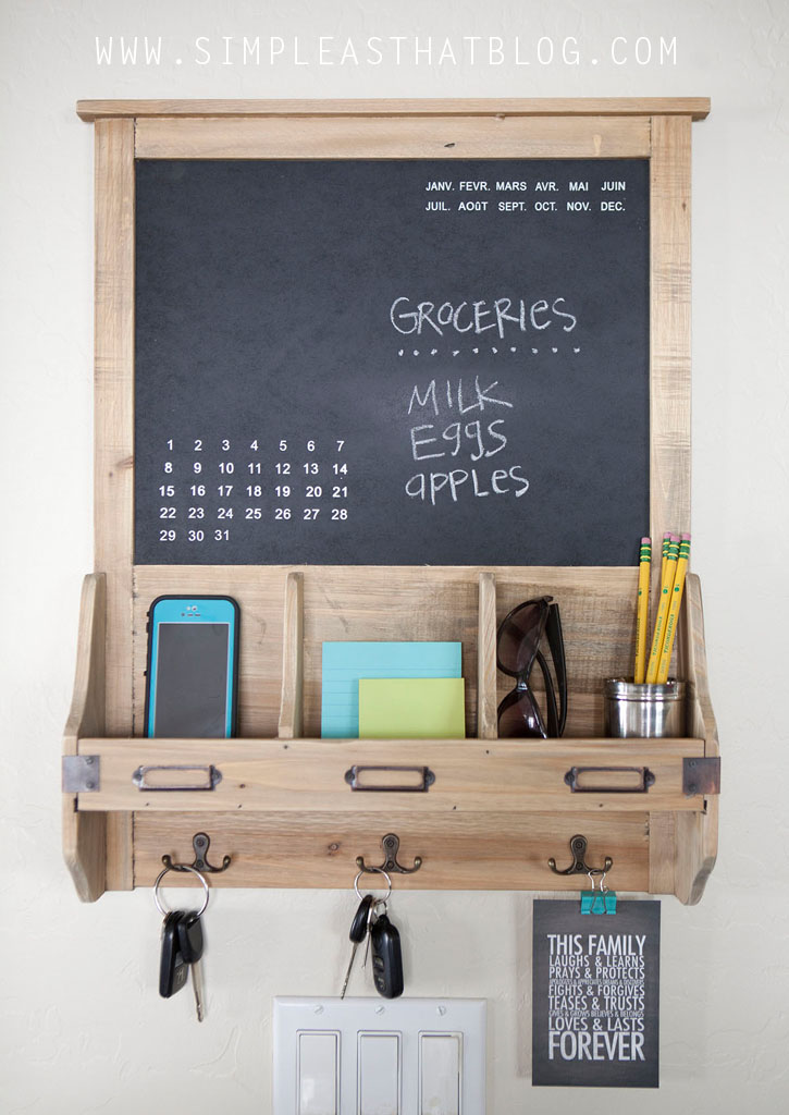 1000 Images About Chalkboard Organizer On Pinterest