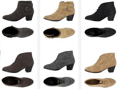 Botas bajas, low boots con tacón