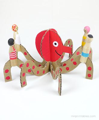 τα πλάσματα της θάλασσας-homemade toys
