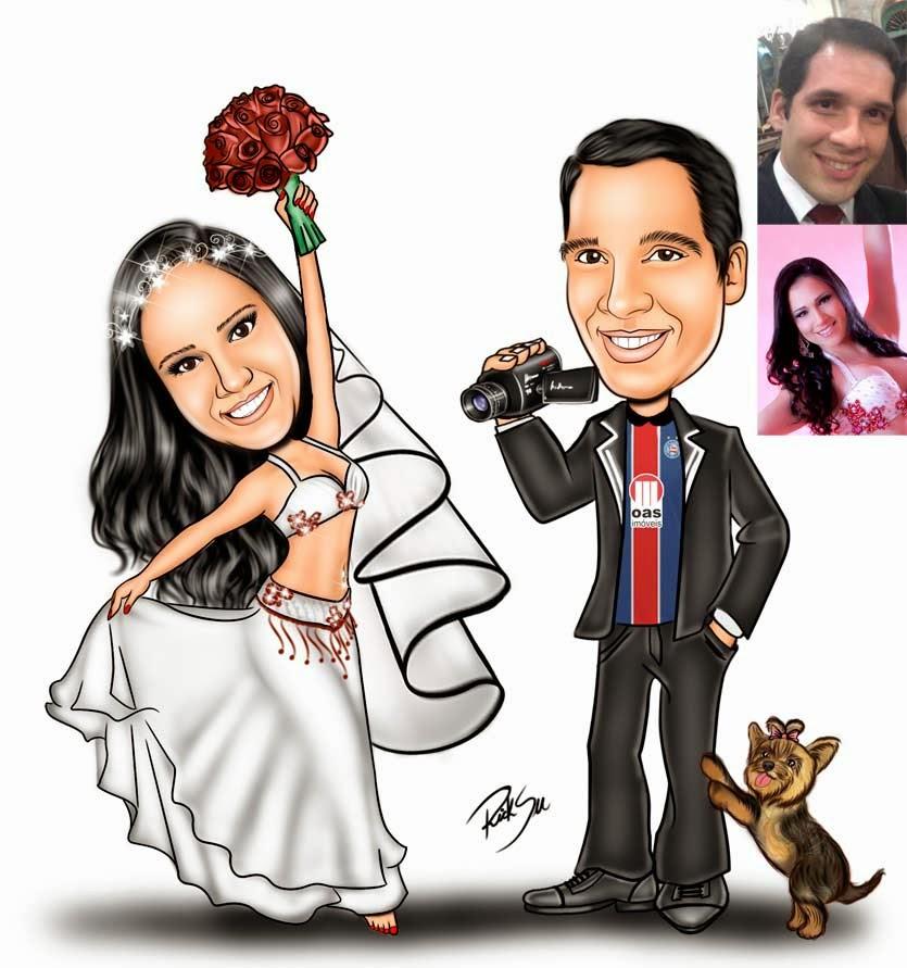 desenho de noivado
