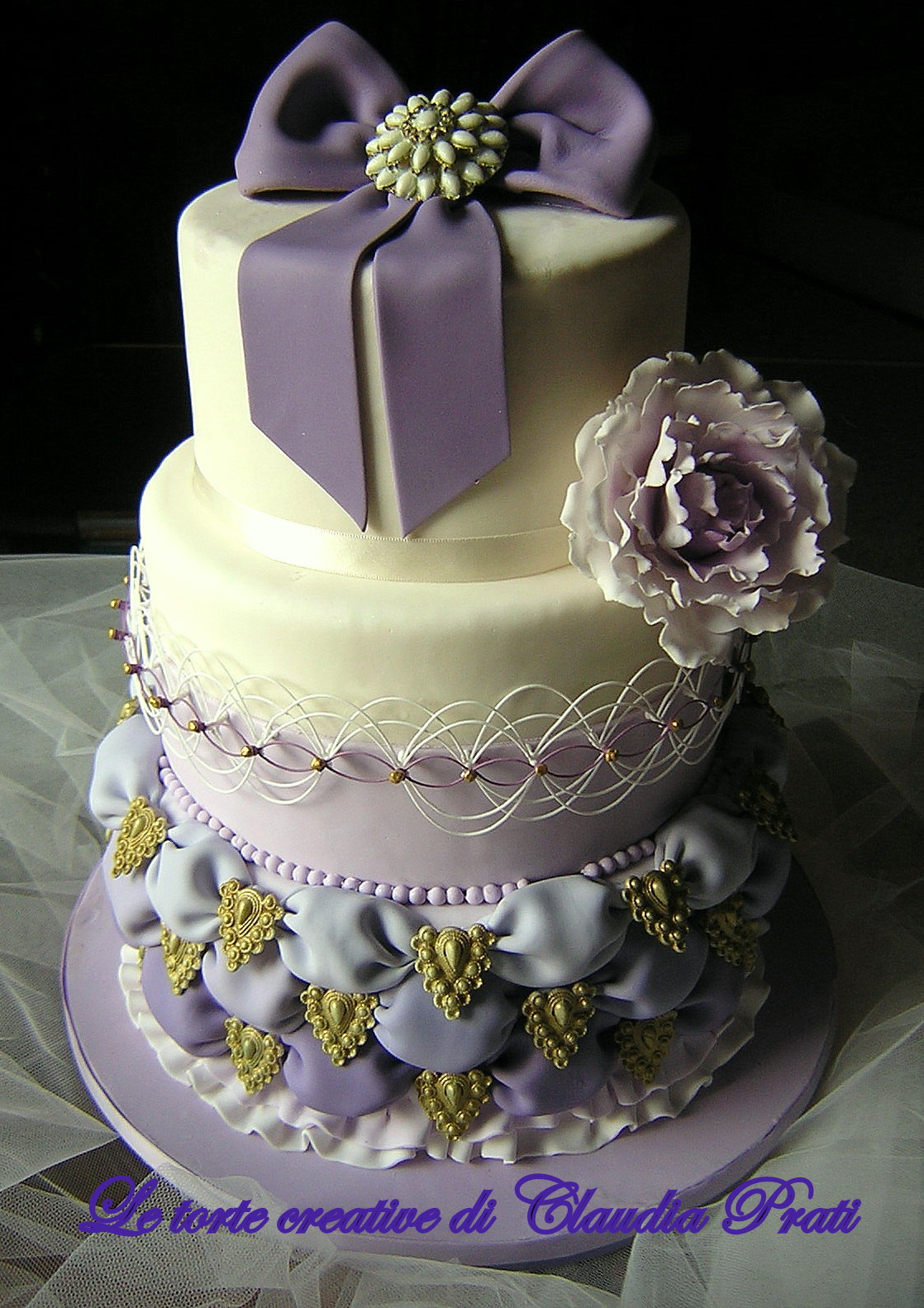 Lavender and White Cakes
