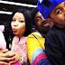 Nicki Minaj, Meek Mill and son at a Basketball game