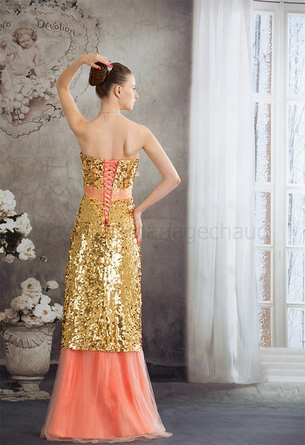 Amazing Long Prom Dresses. It features its strapless neckline and A-line style.