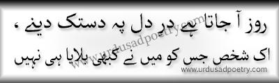 Roz Aa Jata Hai Dar-e-Dil Pe Dastak Daine - Sad Poetry