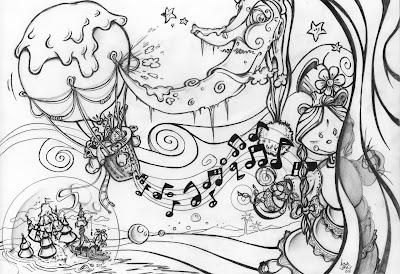 Dibujo dise ado para un mural jack el ilustrador for Como pintar un mural en la pared