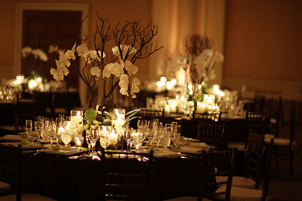 Uniquely yours the way a maine wedding should be for Black and white reception tables