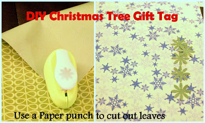 Make christmas trees, wreaths, and snowflakes using a generic paper punch