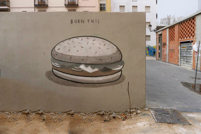 """Fast Food Is Not A Crime"" A New Series Of Pieces by Spanish Artist Escif in Valencia, Spain. 5"