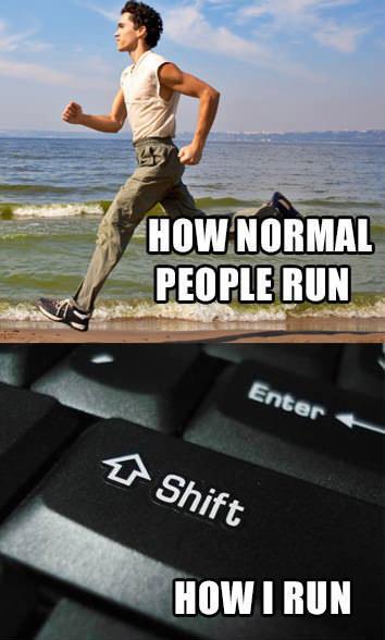 Como corre un Geek humor