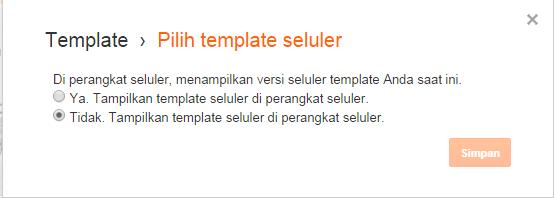 template seluler