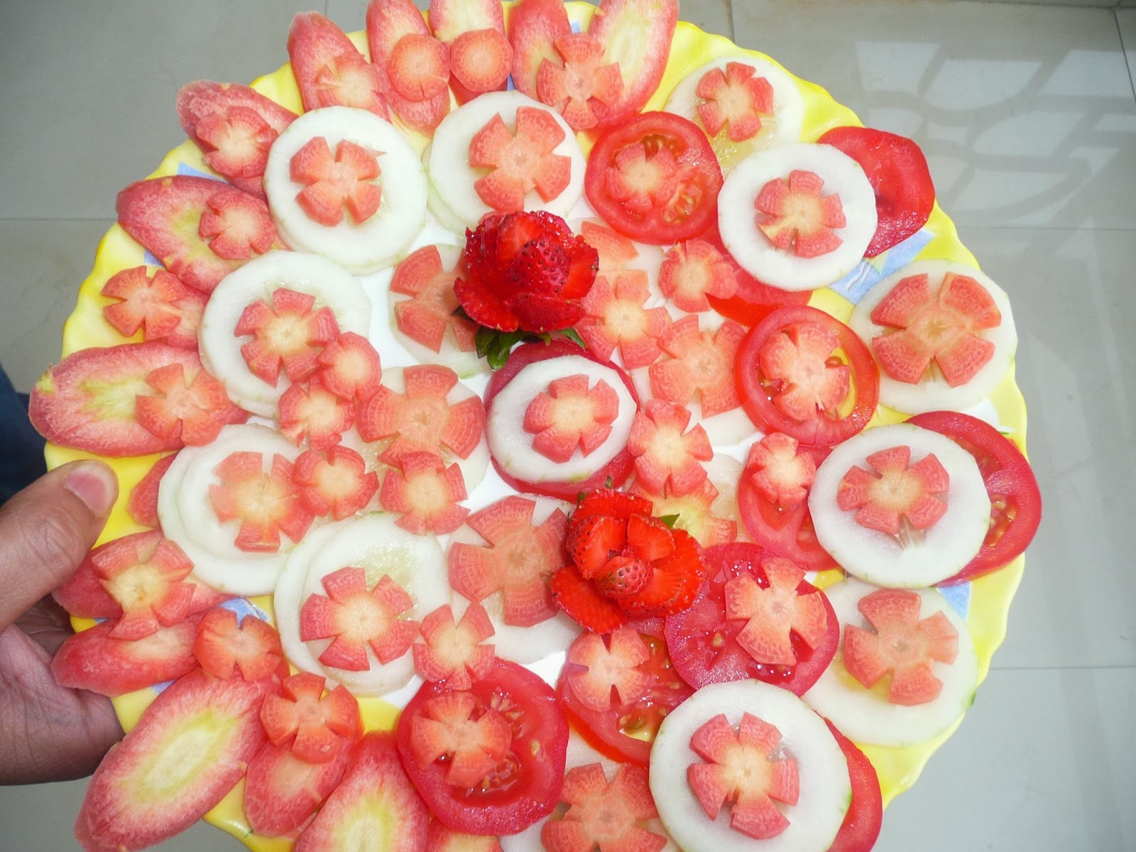 Amazingbites salad decoration for Decoration salade